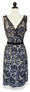 Moschino Silk Lace Sheath Evening Party Dress