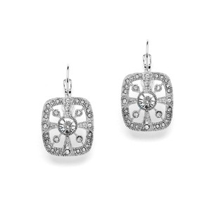 Mariell Dainty Art Deco Crystal Drop Earrings For Prom Or Bridesmaids 4257e
