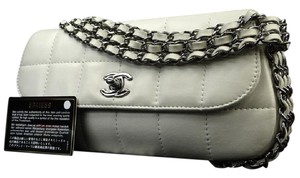 Chanel Chocolate Bar Flap Chocolate Limited Edition Silver Chain Shoulder Bag
