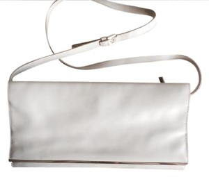 Calvin Klein Collection Leather Mirrored Beige Clutch