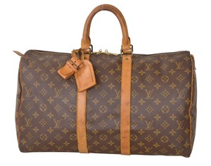 Louis Vuitton Lv Keepall 45 Brown Travel Bag