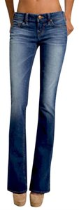 True Religion Flair Flare Leg Jeans-Dark Rinse