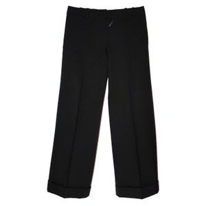Chlo Wide-leg Wool Dress Tailored Trouser Pants Black