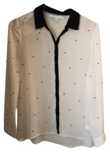 LC Lauren Conrad Button Down Shirt creme/black
