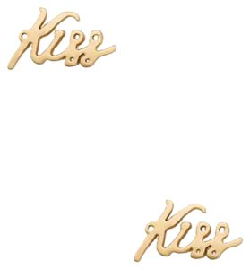 Kate Spade Kate Spade kiss 12k gold stud earrings