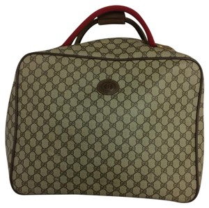 Gucci Brown, Tan, Green, Red Travel Bag