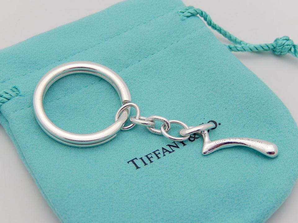 14c982a83 Tiffany & Co. Silver Peretti Letter Initial R Key Chain Keyring In Sterling