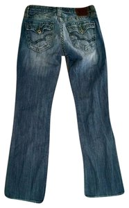 Big Star Size 26 Low Rise Boot Cut Jeans-Medium Wash