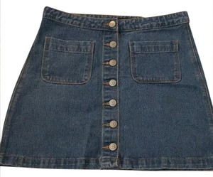 Brandy Melville Mini Skirt Denim