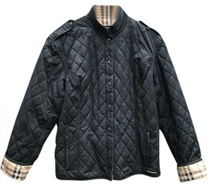 Burberry London Quilted Waterproof Burberry Motorcycle Jacket