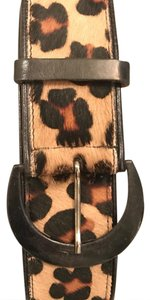 Saks Fifth Avenue SFA leopard print Calf Hair Belt