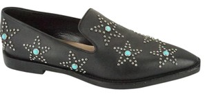 Valentino 7021402 New In Box Studded Loafers black Flats