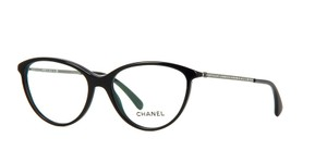 Chanel NEW Chanel Swarovski Pave Cat Eye Eyeglasses 3293B Black