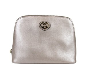 Gucci Leather Pouch Pink Clutch
