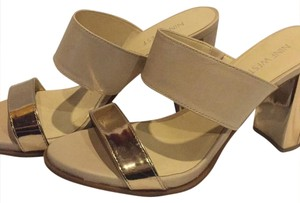 Nine West Gold and tan Sandals