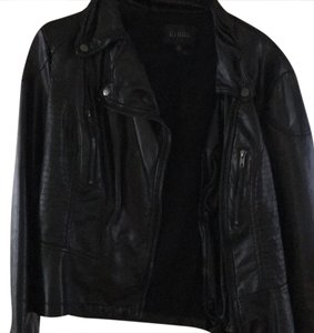 Blu Pepper black Leather Jacket