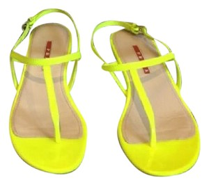 Prada neon yellow Sandals