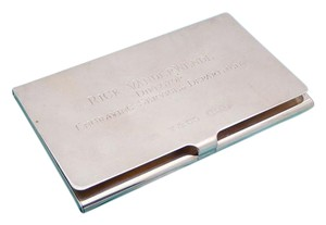 Tiffany co silver sterling business card holder engraved tradesy sterling silver business card holder engraved colourmoves