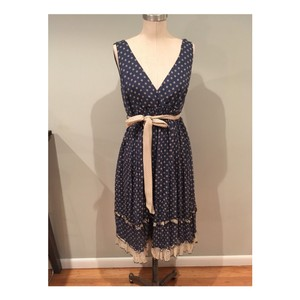 Other short dress navy blue & cream on Tradesy
