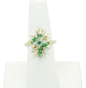 NYCFineJewelry Emerald and Diamond Ring 14K Yellow Gold 0.7 CT TGW