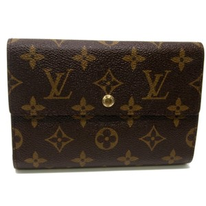 Louis Vuitton Louis Vuitton International Monogram Tanon Porte Tresor Etui Papiers