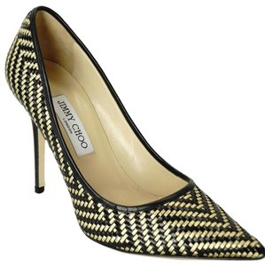 Jimmy Choo Sd444781321 High Heels Nib 439007594074 Black/Gold Pumps