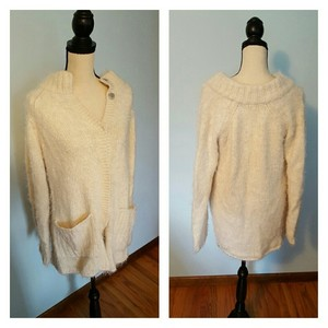 Free People Press Button Sweater Soft Cardigan
