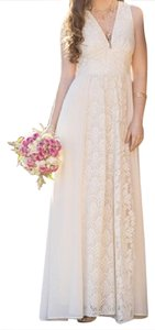 Ivory Maxi Dress by Champagne & Strawberry Lace Boho Maxi V-neck Chic