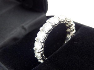 Other 4.2TCW Diamond Eternity Band Ring In 14K White Gold 585, Certificate