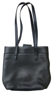 Coach Vintage Leather Pebbled Tote in Black