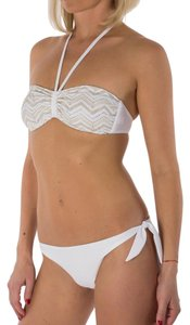 Balmain Paris White Embellished Bandeau Bikini 2 Piece Swimsuit US S / EU 42