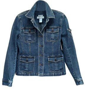 Jones New York Blue Denim Womens Jean Jacket