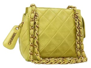 Chanel Zip Tote Crossbody Lambskin Shoulder Bag
