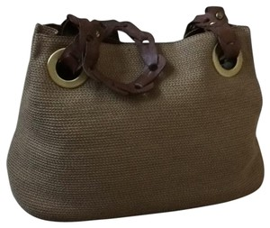 Eric Javits Tote in soft canvas tan