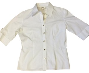 Milly of New York Button Down Shirt white
