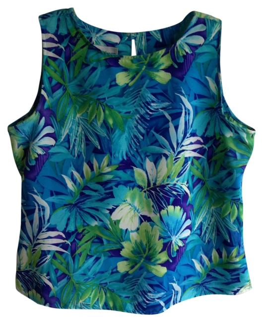 Preload https://item5.tradesy.com/images/dress-barn-turquoise-tropical-print-2-piece-above-knee-short-casual-dress-size-8-m-2077584-0-0.jpg?width=400&height=650