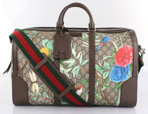 Gucci Flowers Gg Gc.k1111.10 Monogram Brown Tian Guccissima Travel Bag