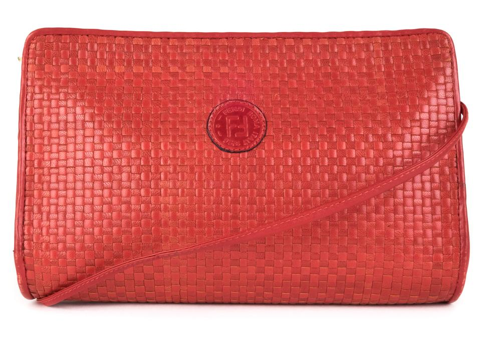 Fendi Vintage Woven Red Leather Cross Body Bag - Tradesy 77e413ffbb448