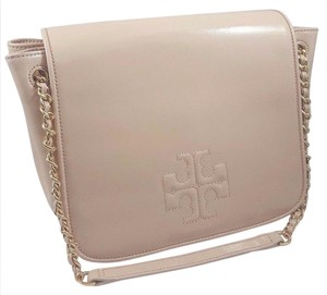 Tory Burch Patent Leather Beige Chain Shoulder Bag