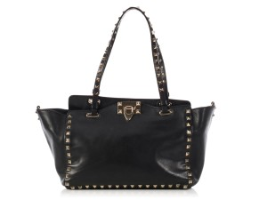 Valentino Vl.k1104.09 Studded Leather Ghw Gold Tote