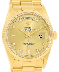 Rolex Rolex President Day Date Yellow Gold Diamond Automatic Watch 18238