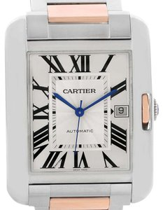 Cartier Cartier Tank Anglaise XL Steel Rose Gold Automatic Mens Watch W5310006