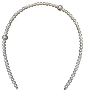 Chanel Chanel Runway Classic White Pearl Headband with CC Logos