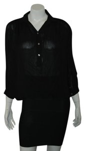 Anthropologie Button Up Blouse Marc Jacobs Free People Button Down Shirt black