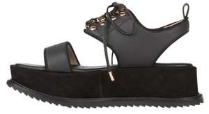 Matisse Kate Bosworth Grunge Leather Suede black Platforms