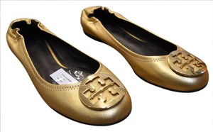 Tory Burch Leather Gold Flats