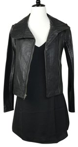 BCBGMAXAZRIA Nwt Leather Motocycle Black Jacket
