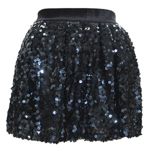 Juicy Couture Mini Petite Sequin Mini Skirt Black