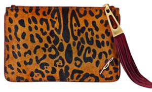 B Brian Atwood Pouch Leopard Clutch