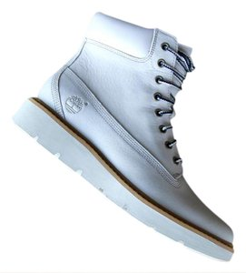 Timberland Leather White Boots